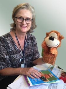 Jane Williamson, Program Manager Paediatric Integrated Cancer Service with Monkey