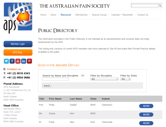 New Features_Public Directory Screen