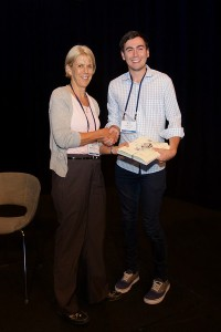 Michele Sterling with John Cavill, runner-up Best Poster